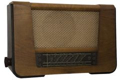 Old retro radio. Isolated background Royalty Free Stock Photography