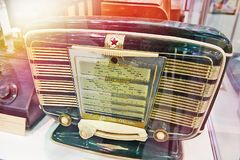 Old retro radio stock photography
