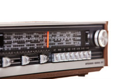 Old retro radio set. All on white background Stock Images