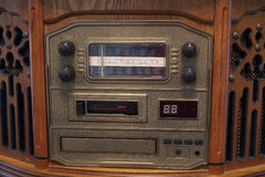 Old retro radio. On the table Royalty Free Stock Image