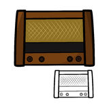Old retro radio. Vector illustration : Old retro radio on a white background Royalty Free Stock Photography