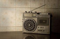 Old retro radio,vintage color. Stock Photo
