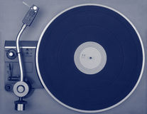 Old retro record player. View from above Royalty Free Stock Photos