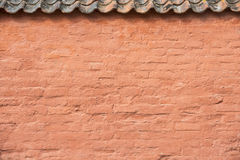 Old retro red brick wall Royalty Free Stock Photo