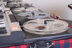 Old retro Reel Audio Recorder Royalty Free Stock Images