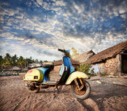 Old retro scooter in India Royalty Free Stock Photos