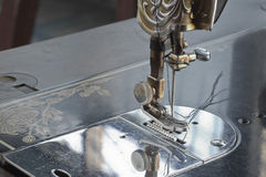Old retro sewing machine. Royalty Free Stock Photos