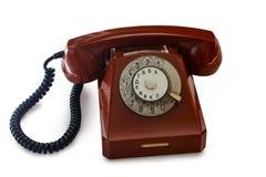 Old retro soviet telephone. Isolated on white background royalty free stock image
