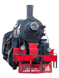 Old (retro) steam engine (locomotive). Stock Images