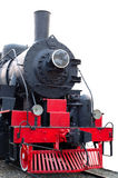 Old (retro) steam engine (locomotive). Old (retro) steam engine (locomotive) on isolated background royalty free stock photography