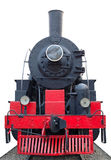 Old (retro) steam engine (locomotive). Stock Photos