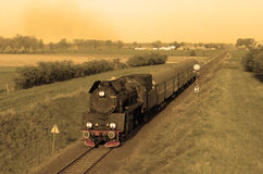 Old retro steam train Royalty Free Stock Image