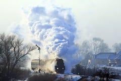 Old retro steam train Stock Image