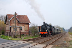 Old retro steam train Stock Photos