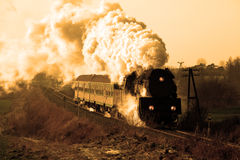 Old retro steam train royalty free stock images