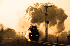 Old retro steam train Stock Images