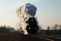 Old retro steam train Stock Images