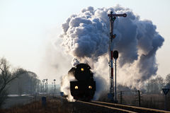 Old retro steam train Royalty Free Stock Photography