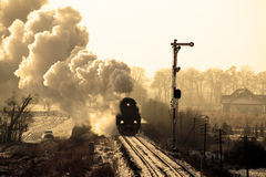 Old retro steam train Royalty Free Stock Photo