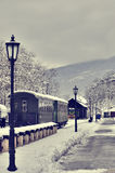 Old retro steam train and vagons Royalty Free Stock Photography
