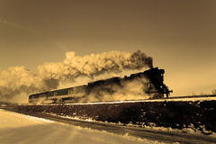 Old retro steam train Royalty Free Stock Photos