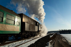 Old retro steam train Stock Photos