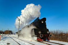 Old retro steam train Stock Photo