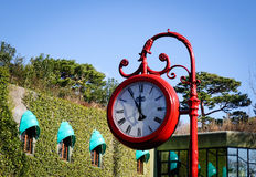 Old retro street clock at the park Stock Images