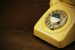 Old retro style rotary telephone Stock Image