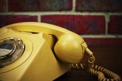 Old retro style rotary telephone Stock Photos