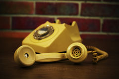 Old retro style rotary telephone Royalty Free Stock Photos