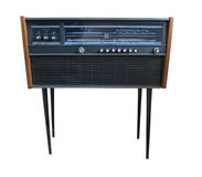 Old retro styled radio isolated on white Royalty Free Stock Images