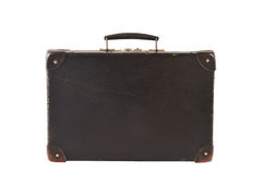 Old retro-styled travel suitcase isolated on white Royalty Free Stock Photography