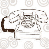Old retro telephone Stock Photography