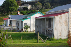 Old retro timber houses. Dargaville, North Island, New Zealand Royalty Free Stock Photos