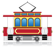 Old retro tram vector illustration Stock Photo