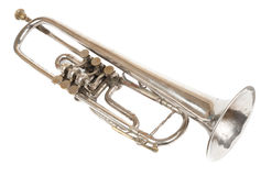 Old retro trumpet isolated Royalty Free Stock Images