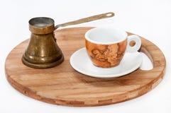 Old retro turkish coffee utensil Stock Photo