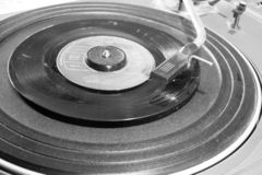 Old and retro turntable player stock images