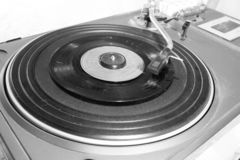 Old and retro turntable player stock photography