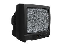 Old Retro TV noise. Old TV with noise on screen. Retro Television royalty free stock image