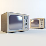 Old retro tv Stock Photo