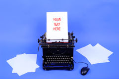 Old retro typewriter Stock Image
