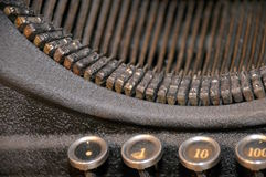 Old retro typewriter Royalty Free Stock Photo