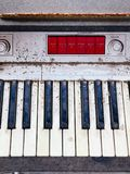 Old retro unnecessary faulty musical synthesizer Royalty Free Stock Photo