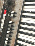 Old retro unnecessary faulty musical synthesizer Stock Images