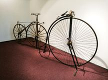 Vintage bicycles. Old, retro, vintage bicycles Royalty Free Stock Images