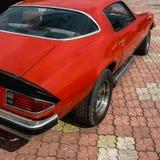 Old retro or vintage car back side Royalty Free Stock Images