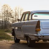 Old retro or vintage car back side Royalty Free Stock Photo