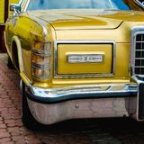 Old retro or vintage car front side Stock Photography